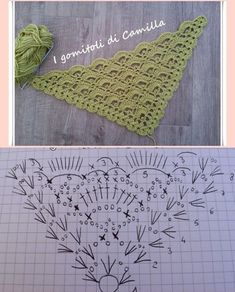 The Revival Crochet Triangle Scarf - Free Pattern and Video Tutorial! Poncho Crochet, Crochet Shawl Diagram, Crochet Shawls And Wraps, Crochet Chart, Crochet Scarves, Crochet Motif, Crochet Clothes, Crochet Lace, Thread Crochet