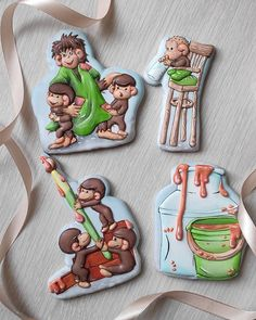 Cake Decorating Piping, Cookie Decorating, Man Cookies, Sugar Cookies, Patisserie Design, Food And Drink, Baking, Halloween, Desserts