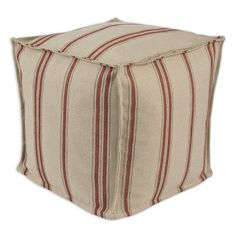 Have to have it. Chooty & Co. Rafting Pearl Seamed Pellet Hassock Ottoman - Tan - $86.99 @hayneedle