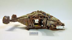 A dropship delivering more than just LEGO bricks Cool Lego, Cool Toys, Lego Ship, Lego Spaceship, Lego Mechs, Lego War, Lego Worlds, Lego Models, Lego Projects