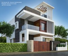 House elevation, front elevation designs, facade house, ultra modern homes, Modern Bungalow Exterior, Modern Exterior House Designs, Modern House Facades, Modern House Plans, Modern House Design, Exterior Design, 3 Storey House Design, Duplex House Design, House Front Design