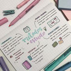 Oie, gente 🌈 Trouxe para vocês alguns métodos de estudo, os quais funcionam muito comigo (╹◡╹) — espero que gostem!! ❤️ caderno:…