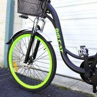 Matte Black With Lime Green Tires. Big Cat ® Long Beach Cruiser (SE). Premium Entry level Electric Bicycle. #350W Rear Hub #Motor, #36V10Ah #LithiumIon #Battery, Front #Cargo #basket, Rear Welded #PannierRack, #20MPH, #Shimano Tourney 7Speed, Front & Rear #LED #lights, Aluminum #Fenders. #bigcat #ebike #electricbike #ebykes #longbeach #beach #beachcruiser #bicycle #bicicleta. http://www.bigcatelectric.bike