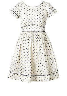 Little Galleon Print Cotton Poplin Cut Out Back Dress Daylight