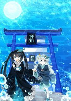 Mikotsu and Uomi from Wadanohara and the Great Blue Sea (WATGBS)...Mikotsu ;-;