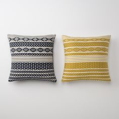 Handwoven Mayan Throw Pillow - Navy | Throw Pillows | Bed+Bath