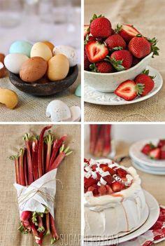 Strawberry Rhubarb Pavlova   SugarHero.com