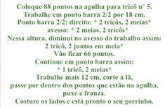 Receita de Tricô: Gorrinhos Super Fáceis Playground Design, Lyrics, Knitting, Bandanas, Lovely Things, Bobby, Singers, Chocolate, Music