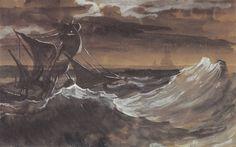 Sailboat On A Stormy Sea Theodore Gericault 318850 Wallpaper wallpaper