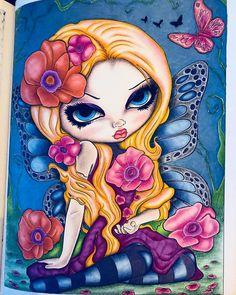 "Gefällt 24 Mal, 5 Kommentare - Coloring by ÅsaM   (@coloring.by.asa) auf Instagram: ""#jasminebecketgriffith #afantasyartadventure #adultcoloringbook #målarbokförvuxna #poppymagic…"""