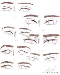 Boy Anime Eyes, How To Draw Anime Eyes, Manga Eyes, How To Draw Eyebrows, Drawing Male Hair, Nose Drawing, Guy Drawing, Anime Eyebrows, Eyebrows Sketch