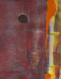 """Warmth, 10x8"""", Gelli Monotype, Amantha Tsaros"""