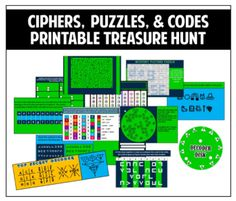 Ideas for Breakout clues, ciphers, riddles...