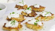 Ina Garten makes Hanukkah extra special with perfect potato latkes and easy homemade applesauce. Potato Latkes, Potato Pancakes, Mayonnaise, Hanukkah Food, Hanukkah Recipes, Jewish Recipes, Hanukkah Celebration, Hannukah, Israeli Recipes