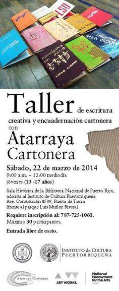 Taller de Escritura Creativa y Encuadernación Cartonera @ Biblioteca Nacional de Puerto Rico, San Juan #sondeaquipr #bibliotecanacionalpr #sanjuan