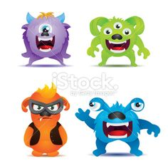 Monster Collections Royalty Free Stock Vector Art Illustration