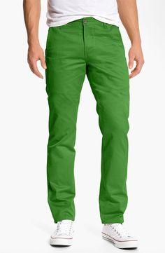 Dockers® 'Alpha Khaki' Chinos in Mint Green; casual men clothing, pants