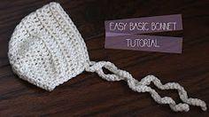 crochet lace baby bonnet - YouTube