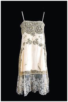 French silk/lace slip, 1920s French Lingerie, Retro Lingerie, 1920s Outfits, Cool Outfits, Fashion Outfits, Vintage Dresses, Vintage Outfits, Vintage Fashion, Night Gown Dress
