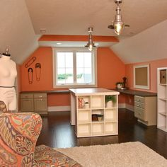 Sewing Room Design Ideas, Pictures, Remodel, and Decor