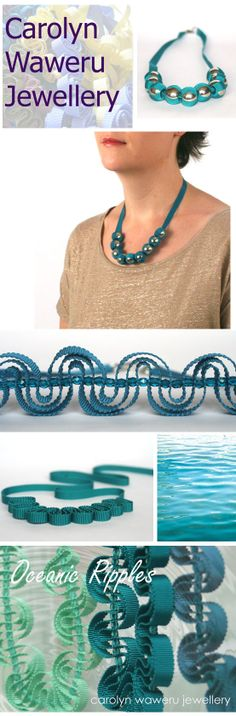Carolyn Waweru Jewellery necklaces in beautiful shades of oceanic teal and blue, perfect for summer!