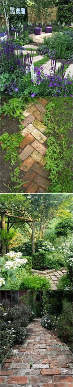 Gorgeous gardenscapes and garden pathways