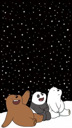 I Edited This We Bare Bears Picture And Put In A Little regarding We Bare Bears Christmas Wallpaper - Find your Favorite Wallpapers! Cute Panda Wallpaper, Cartoon Wallpaper Iphone, Disney Phone Wallpaper, Bear Wallpaper, Cute Wallpaper Backgrounds, Aesthetic Iphone Wallpaper, Galaxy Wallpaper, Aesthetic Wallpapers, Dont Touch My Phone Wallpapers