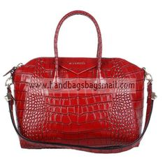 Givenchy Red Antigona Duffel Croc Embossed Leather Tote Bag.  RRP: $1,032.00.  Your Price: $319.99.  (You save $712.01).  Brand: Givenchy.  Givenchy Red Antigona Duffel Croc Embossed Leather Tote Bag detailed physical characteristics and size, so that you can have a more detailed information about it.  http://www.handbagsbagsmall.com/products/Givenchy-Red-Antigona-Duffel-Croc-Embossed-Leather-Tote-Bag.html