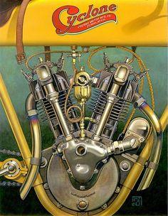 Vintage Motorcycles Classic Racing Cafè: Motorcycle Art - Don Motorcycle Posters, Motorcycle Art, Motorcycle Design, Bike Art, Motorcycle Birthday, Antique Motorcycles, American Motorcycles, Indian Motorcycles, Triumph Motorcycles