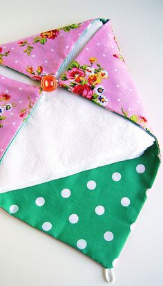 fabric napkin holder, via Flickr.