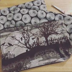 Need to take better photos. Posting these on store envy  Adding these makeup pouches tomorrow on my store envy! Large enogh to fit all your con makeup essentials  Just In time for halloween Link on my profile. #manga#Halloween#goth#makeup#makeupbag#diy#pouch#ghoul#cosplaymakeup