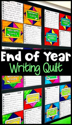 End of Year Writing Prompts Quilt with Summer Bucket List Activity and More! End Of Year Activities, Quilt Display, Writing Prompts For Kids, Summer Bucket Lists, Teacher Stuff, Bulletin Boards, Literacy, Students, Classroom