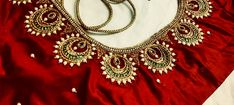 Pattu Saree Blouse Designs, Blouse Designs Silk, Bridal Blouse Designs, Saree Design Patterns, Designer Blouse Patterns, Simple Blouse Designs, Stylish Blouse Design, Hand Work Design, Maggam Work Designs