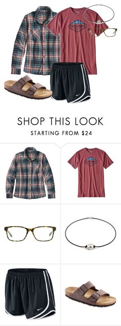 """exploring :)"" by soccerstreak on Polyvore featuring Patagonia, Tory Burch and Birkenstock"
