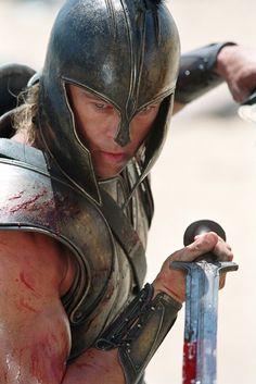Brad Pitt as Achilles Troy Achilles, Troy Movie, Troy Film, Greek Warrior, Spartan Warrior, Films Cinema, The Legend Of Heroes, Trojan War, Alexander The Great