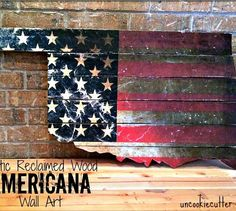 s 19 magical ways to update your plain jane stuff using graphics, home decor, repurposing upcycling, Turn plain wooden planks into patriotic art
