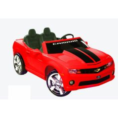 This Chevrolet Racing Camaro comes with a real working radio, a line in jack ans stylish chrome color hubcaps. The car runs on a 12-volt rechargeable battery and gets moving up to speeds of 5 MPH.