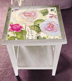 Custom Tile side table - so pretty!