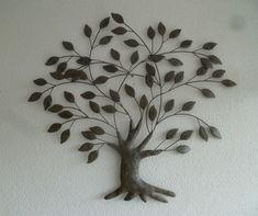 Wanddecoratie 3D van metaal boom Salix - Muurdecoratie Bomen - WANDDECORATIE METAAL | DEKOGIFTS
