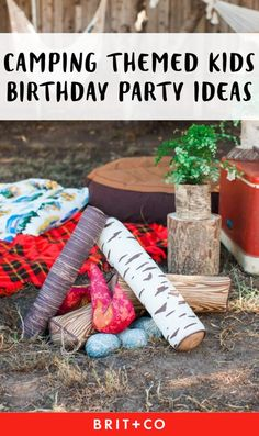 Save this for some fun + creative camping themed party ideas.