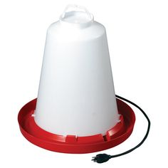 Features:  -Chicken waterer.  -Energy efficient dual heating element does not overheat the water.  -Thermostatically controlled.  -Keeps drinking water ice free.  -6 Foot heavy duty cord secures to an