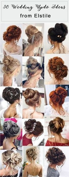 30 Elstile Long Wedding Hairstyles and Updos Elstile Lange Hochzeitsfrisuren und Updos Braids For Short Hair, Wedding Hairstyles For Long Hair, Wedding Hair And Makeup, Hairstyles With Bangs, Braided Hairstyles, Hot Haircuts, Pretty Hairstyles, Stylish Hair, Hair Dos