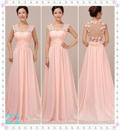 Cheap Pink Evening Dresses Long Chiffon Dresses Sexy by 214EVER prom?