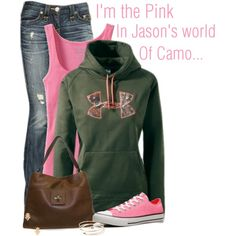 """""""Pink Camo"""" by cindycook10 on Polyvore"""
