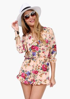 Daylight Savings Romper #floral #flowers