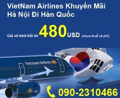 VietNam Airlines Khuyến Mãi Hà Nội Đi Hàn Quốc Giá Vé Khứ Hồi Từ 480USD