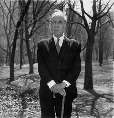 Borges in Central Park in 1968  Photo by Diane Arbus