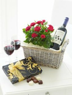 Luxury Red Wine Gift Basket Birthday Baskets Special Gifts