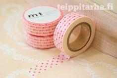 Polka dot (vaaleanpunainen) masking tape