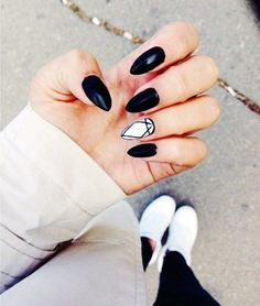 40 Stylish Black and White Nails Designs for 2016